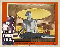 The Day the Earth Stood Still (1951) <br /> Lobby card with Michael Rennie &amp; Patricia Neal<br /> *Filmstill - Editorial Use Only*<br /> CAP/KFS<br /> Image supplied by Capital Pictures