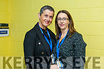 Margaret Cronin and Myra Lynch working behind the scenes at the I T Tralee Graduation ceremony on Friday