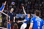24.02.2019, SAP Arena, Mannheim<br /> Volleyball, DVV-Pokal Finale, VfB Friedrichshafen vs. SVG LŸneburg / Lueneburg<br /> <br /> Angriff Athanasios Protopsaltis (#7 Friedrichshafen)<br /> <br />   Foto © nordphoto / Kurth