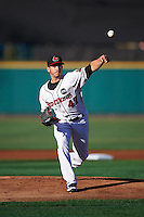 Rochester Red Wings starting pitcher Tommy Milone (47) delivers a pitch during a game against the Columbus Clippers on June 14, 2016 at Frontier Field in Rochester, New York.  Rochester defeated Columbus 1-0.  (Mike Janes/Four Seam Images)