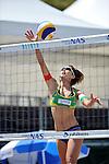 Satoko Urata , (JPN),.MAY 5, 2012 - Beach Volleyball : JBV Tour 2012 Sports Club NAS Open at Odaiba Beach, Tokyo, Japan. (Photo by Jun Tsukida/AFLO SPORT) [0003].