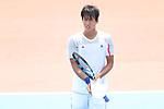 Yosuke Watanuki (JPN) , <br /> AUGUST 22, 2018 - Tennis : <br /> Men's Singles Round of 16<br /> at Jakabaring Sport Center Tennis Court <br /> during the 2018 Jakarta Palembang Asian Games <br /> in Palembang, Indonesia. <br /> (Photo by Yohei Osada/AFLO SPORT)