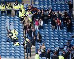 Falkirk fans celebrate Tom Taiwo's goal