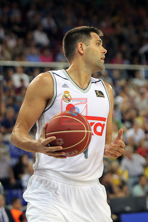 League ACB-ENDESA 2015/2016. <br /> Play-Off Final - Game 2.<br /> FC Barcelona Lassa vs Real Madrid: 70-90.<br /> Felipe Reyes.
