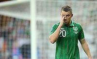 FUSSBALL  EUROPAMEISTERSCHAFT 2012   VORRUNDE Spanien - Irland                     14.06.2012 Simon Cox (Irland) enttaeuscht