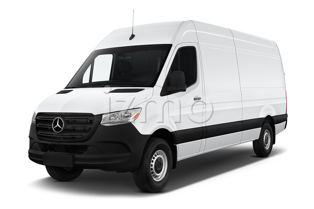 2019 Mercedes Benz Sprinter-Cargo-Van Base 4 Door Cargo Van angular front stock photos of front three quarter view