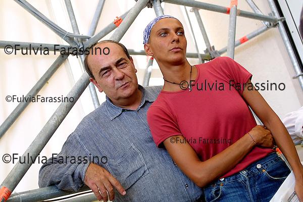 2001 , 58esima Mostra Internazionale  d'Arte Cinematografica di Venezia, 58th Venice International Film Festival, Giuseppe Bertolucci e Rosalinda Celentano