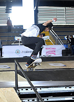 BOGOTA - COLOMBIA - 13 - 08 - 2017: Damian Piedrahita, Skater de Colombia, durante competencia en el Primer Campeonato Panamericano de Skateboarding, que se realiza en el Palacio de los Deportes en la Ciudad de Bogota. / Damian Piedrahita,, Skater from Colombia, during a competitions in the First Pan American Championship of Skateboarding, that takes place in the Palace of Sports in the City of Bogota. Photo: VizzorImage / Luis Ramirez / Staff.