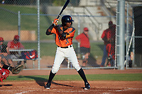 AZL Giants Orange Marco Luciano (10) at bat during a game against the AZL Angels at Giants Baseball Complex on June 17, 2019 in Scottsdale, Arizona. AZL Giants Orange defeated AZL Angels 8-4. (Zachary Lucy/Four Seam Images)
