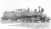 3/4 engineer's-side view of D&amp;RGW #278 at Salida with stack capped.<br /> D&amp;RGW  Salida, CO  Taken by Perry, Otto C. - 9/5/1926