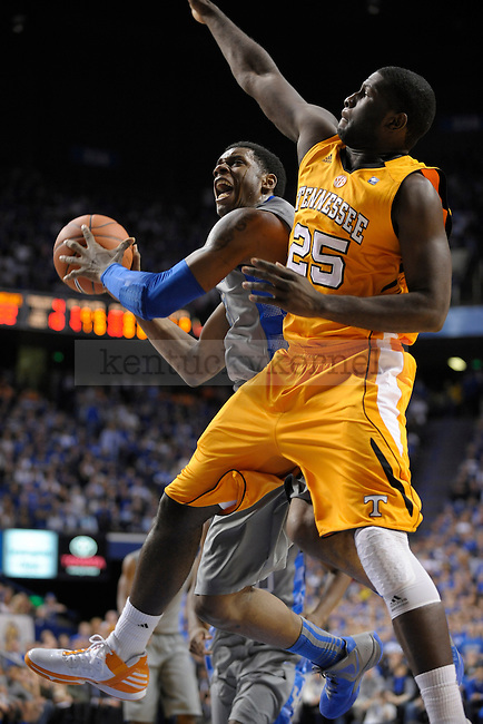 UK's Terrence Jones goes up strong to the basket during the first half of the University of Kentucky men's basketball game against Tennessee at Rupp Arena in Lexington, Ky., on 1/31/12. UK led the game at halftime. Photo by Mike Weaver | Staff