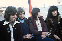 (L-r): Mick Jagger, Charlie Watts, Keith Richards und Bill Wyman. The Rollings Stones in Hamburg (Germany) in September 1970 during a press conference on a boat. | usage worldwide Credit: DPA/MediaPunch ***FOR USA ONLY***