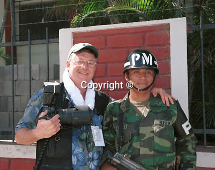 Photojournalist Ron Bennett with Military Police,