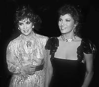 Gina Lollobrigida Raquel Welch 1982<br /> Photo By John Barrett/PHOTOlink.net