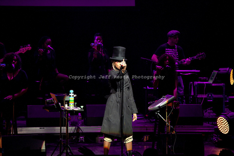 Erykah Badu live concert at Verizon Theatre on June 14, 2010 in Grand Prairie, TX.
