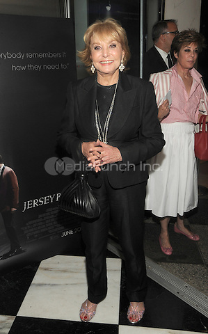 New York, NY- June 9: Barbara Walters attends the 'Jersey Boys' Special Screening at the Paris Theater on June 9, 2014 in New York City. Credit: John Palmer/MediaPunch