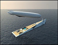 Superyacht comes with 330ft airship.