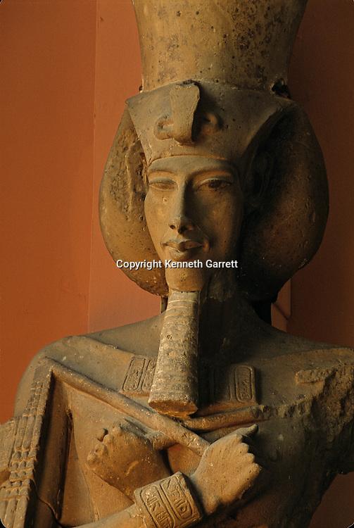 Colossal statue of Amenhotep IV, Akhenaten, originally from Karnak,Tutankhamun and the Golden Age of the pharaohs, Page 29