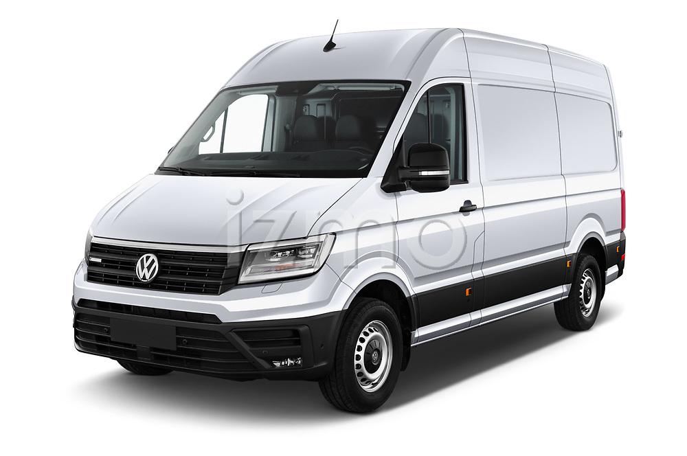2020 Volkswagen Crafter e-Crafter 4 Door Cargo Van Angular Front automotive stock photos of front three quarter view