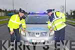 LEARNER DRIVERS: Sgt Gearoid Keating and Garda Paddy Keane launching the Road Policing Operation Plan 2012 with national focus on learner drivers on 1st and 2nd of March.