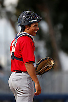 Jacob Nottingham of Redlands High School in Redlands, California participates in the Southern California scouts game for high school seniors at the Urban Youth Academy on February 9, 2013 in Compton, California. (Larry Goren/Four Seam Images)