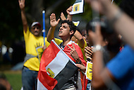 August 31, 2013  (Washington, DC)  Egyptian-American protesters rally in support of the Egytian people across from the White House August 31, 2013.   (Photo by Don Baxter/Media Images International)