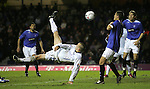 Rangers v St Johnstone....08.11.06   CIS Cup Quarter Final.Steven Milne's overhead kick to open the scoring..Picture by Graeme Hart..Copyright Perthshire Picture Agency.Tel: 01738 623350  Mobile: 07990 594431