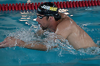 "Olympic medalist Michael Phelps swims during a training season while he attends the ""Official Training Restaurant of the Phelps Family"" and event organized by the food company ""Subway"" in New York, United States. 15/10/2012. Photo by Kena Betancur/VIEWpress."
