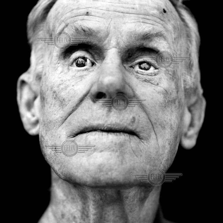Blinded veteran from World War 2, Norman Perry, (UK, 1919