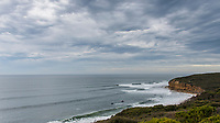 BELLS BEACH, Torquay, Victoria, Australia   (Sunday, April 1, 2018) - The Rip Curl Women's Pro Bells Beach, Stop No. 2 on the World Surf League (WSL) Championship Tour (CT), completed Round 3 today in three-to-four foot (1-1.3 metre) waves at the world-famous Bells Beach. The round witnessed major eliminations, narrowing the women&rsquo;s field to eight for the Quarterfinals. <br /> <br /> In a shocking turn of events, two-time WSL Champion Tyler Wright (AUS) lost in Round 3 Heat 2 and leaves with a 9th place result. The Australian breezed through her opening heat at the Rip Curl Women&rsquo;s Pro but did not repeat her success today in Round 3. The 24-year-old now shifts her focus to the third and final stop on the Australian leg, the Margaret River Pro, which she won in 2016. <br /> The Corona Highline event, a single-heat expression session featuring four athletes, capped off the day&rsquo;s action. The specialty heat saw Matt Wilkinson (AUS), Jordy Smith (ZAF), Silvana Lima (BRA), and Johanne Defay (FRA) rule the Bells lineup on sustainable, twin-fin surfboards shaped by Gary McNeill. <br /> <br /> The Corona Highline aims to not only showcase the elite competitors&rsquo; individuality and style as they surf identical twin-fin surfboards but also some of the innovative and relevant solutions to marine plastic pollution. In addition to riding sustainable surfboards, the competitors used eco-fins made from fishnets salvaged from Chile and wore Parley Ocean Plastic&trade; jerseys upcycled from plastic. <br /> Photo: joliphotos.com