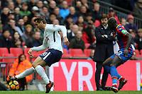 Mamadou Sakho of Crystal Palace and Fernando Llorente of Tottenham Hotspur during Tottenham Hotspur vs Crystal Palace, Premier League Football at Wembley Stadium on 5th November 2017