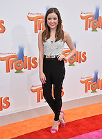 LOS ANGELES, CA. October 23, 2016: Actress Aubrey Miller at the Los Angeles premiere of &quot;Trolls&quot; at the Regency Village Theatre, Westwood.<br /> Picture: Paul Smith/Featureflash/SilverHub 0208 004 5359/ 07711 972644 Editors@silverhubmedia.com