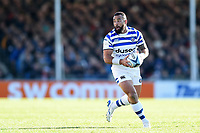 Kahn Fotuali'i of Bath Rugby goes on the attack. Gallagher Premiership match, between Exeter Chiefs and Bath Rugby on March 24, 2019 at Sandy Park in Exeter, England. Photo by: Patrick Khachfe / Onside Images