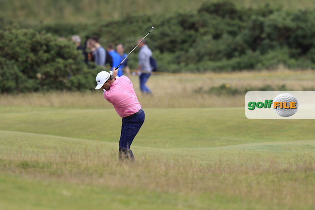 Graeme McDOWELL (NIR) plays his 2nd shot from the rough on the 16th hole during Monday's Final Round of the 144th Open Championship, St Andrews Old Course, St Andrews, Fife, Scotland. 20/07/2015.<br /> Picture Eoin Clarke, www.golffile.ie