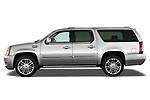 Driver side profile view of a 2007 - 2014 Cadillac Escalade ESV Premium SUV