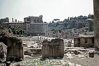 Basilica Aemilia and Temple of Antonius and Faustina, Roman Forum, Rome Italy