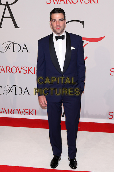 NEW YORK, NY - JUNE 1: Zachary Quinto at the 2015 CFDA Fashion Awards at Alice Tully Hall, Lincoln Center in New York City on June 1, 2015. <br /> CAP/MPI/COR99<br /> &copy;COR99/MPI/Capital Pictures