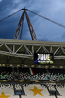 A view of the stadium prior to the Serie A football match between Juventus FC and AS Roma at Juventus stadium in Turin (Italy), August 1st, 2020. Play resumes behind closed doors following the outbreak of the coronavirus disease. Photo Andrea Staccioli / Insidefoto