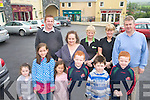 Pictured in Kilflynn on Thursday were front row from left: Hazel Parker, Lilou Leprince, Lola-Rose Leprince, Darragh Murnane, Gavin Parker and Sean Murnane. Back row from left: Chane Herbert, Catherine Charles, Mary Byrne, Mary Mahony and Mike Parker.