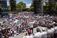 June 11, 2018: Andres Manuel Lopez Obrador, an opposition candidate of MORENA party running for presidency, gives a speech to supporters during his campaign rally at Comitan de Dominguez's' municipality in Chiapas, Mexico. National elections will be hold on July 1.