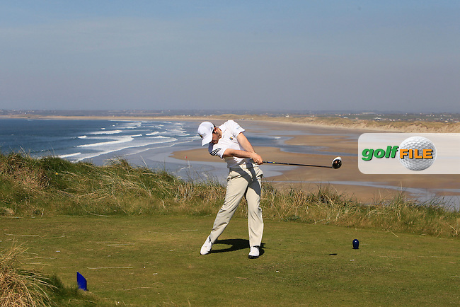 Liam Grehan (Mullingar) during Round 2 of the 54 hole Stroke Play on April 9th 2015 for the 2015 Munster Youths' Open Championship, Tralee Golf Club, Tralee, Co.Kerry Ireland.<br /> Picture: Thos Caffrey / Golffile