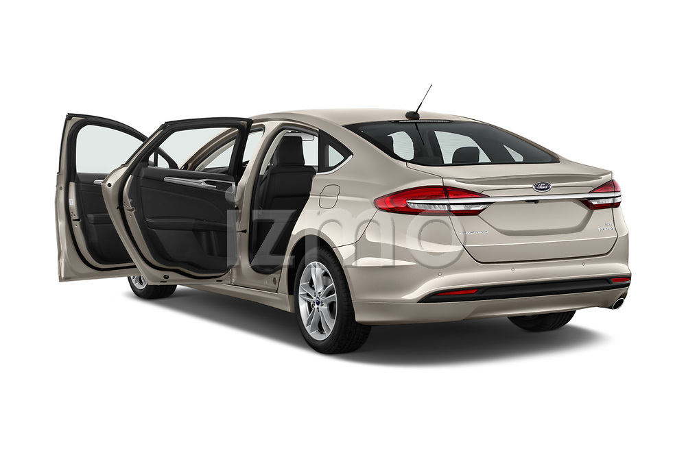 Car images close up view of a 2018 Ford Fusion Hybrid SE 4 Door Sedan doors