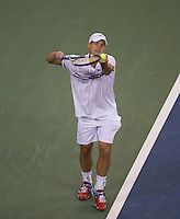 Andy Roddick..Tennis - US Open - Grand Slam -  New York 2012 -  Flushing Meadows - New York - USA - Tuesday 4th September  2012. .© AMN Images, 30, Cleveland Street, London, W1T 4JD.Tel - +44 20 7907 6387.mfrey@advantagemedianet.com.www.amnimages.photoshelter.com.www.advantagemedianet.com.www.tennishead.net
