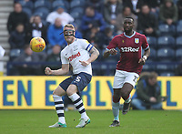 Preston North End's Tom Clarke in action with Aston Villa's Yannick Bolasie<br /> <br /> Photographer Mick Walker/CameraSport<br /> <br /> The EFL Sky Bet Championship - Preston North End v Aston Villa - Saturday 29th December 2018 - Deepdale Stadium - Preston<br /> <br /> World Copyright © 2018 CameraSport. All rights reserved. 43 Linden Ave. Countesthorpe. Leicester. England. LE8 5PG - Tel: +44 (0) 116 277 4147 - admin@camerasport.com - www.camerasport.com