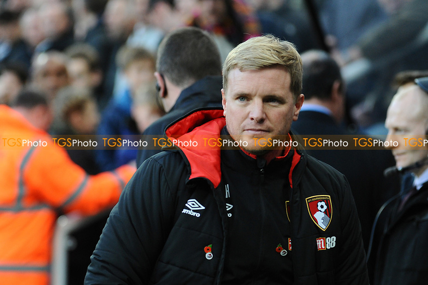 Bournemouth manager Eddie Howe during Newcastle United vs AFC Bournemouth, Premier League Football at St. James' Park on 4th November 2017