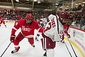 Jared Fiegl (Cornell - 18), Nathan Krusko (Harvard - 13) - The Harvard University Crimson defeated the visiting Cornell University Big Red on Saturday, November 5, 2016, at the Bright-Landry Hockey Center in Boston, Massachusetts.