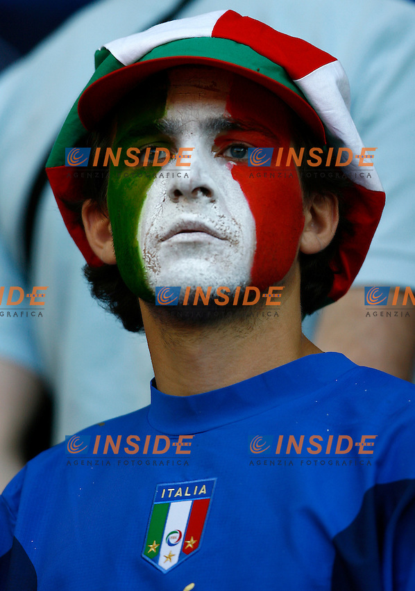 Kaiserslautern 17/6/2006 World Cup 2006.Italia USA.Photo Andrea Staccioli Insidefoto.Un tifoso italiano.Italian fan