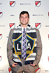 PHILADELPHIA, PA - JANUARY 19: Tomas Hillard-Arce was taken with the second overall pick by Los Angeles Galaxy. The MLS SuperDraft 2018 presented by adidas was held on January 19, 2018 at the Pennsylvania Convention Center in Philadelphia, PA.