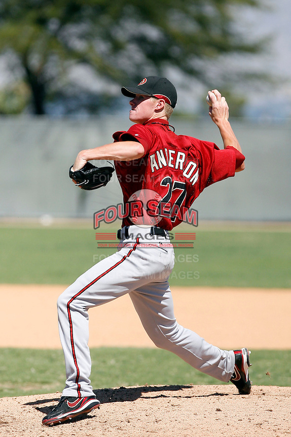 Chase Anderson - Arizona Diamondbacks, 2009 Instructional League.Photo by:  Bill Mitchell/Four Seam Images..