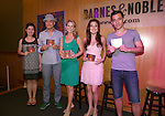 Ruthie Ann Miles, Ken Watanabe, Kelli O'Hara, Ashley Park and Conrad Ricamora  from the revival of Rodgers and Hammerstein's 'The King and I'  celebrate the musical's new Broadway cast recording with a concert and CD signing at Barnes & Noble east 86th street on June 11, 2015 in New York City.